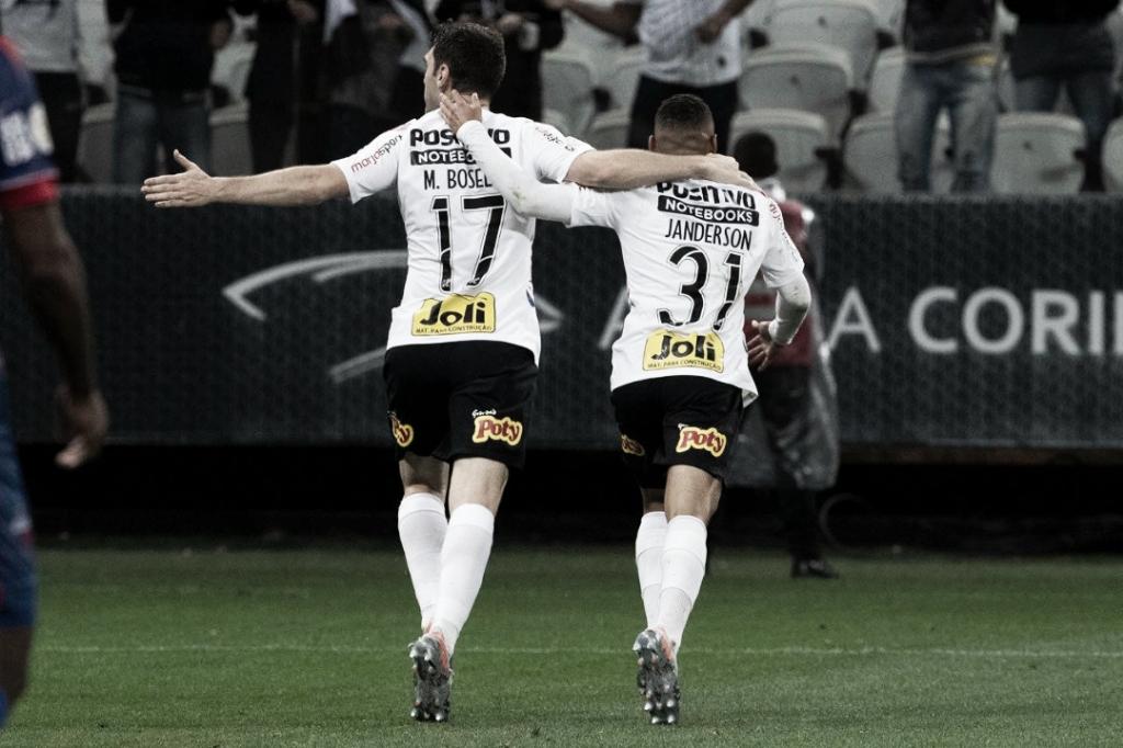 Boselli marca dois, e Corinthians vence Fortaleza na Arena
