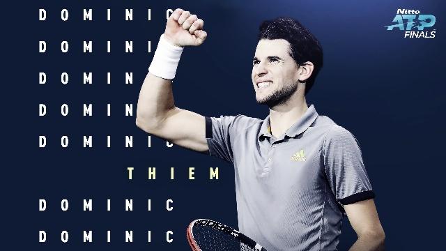 Thiem venció a Federer en el inicio de las Finales ATP