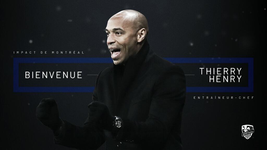 Montreal Impact anuncia Thierry Henry como novo treinador