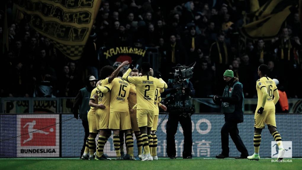 Com um a menos no segundo tempo, Dortmund segura Hertha e vence em Berlim
