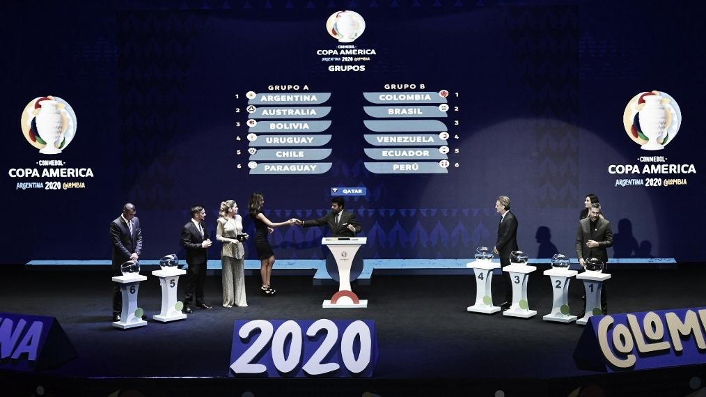 Conmebol sorteia grupos e tabela completa da Copa América 2020; confira