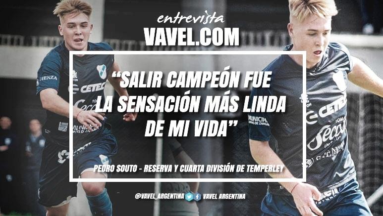 """Entrevista. Pedro Souto: """"Sueño todo el tiempo con debutar en Temperley y algún día lograr un ascenso o un campeonato con el club, para poder y quedar en la historia y en el corazón de los hinchas"""""""