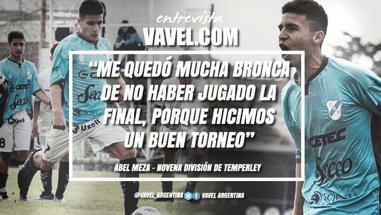 """Entrevista. Abel Meza: """"En Temperley te dan muchísimas posibilidades que en otros clubes no"""""""