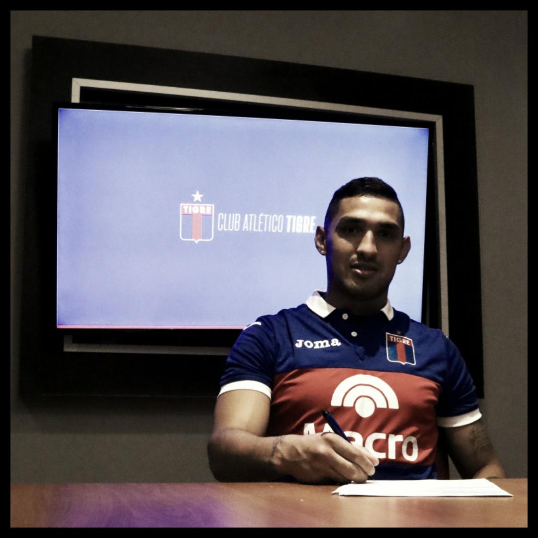 Hoy firmó contrato (Foto: Prensa Tigre).