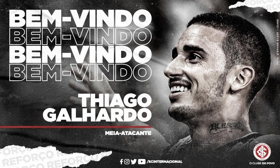 Thiago Galhardo sai do Ceará e assina com Internacional até dezembro de 2020