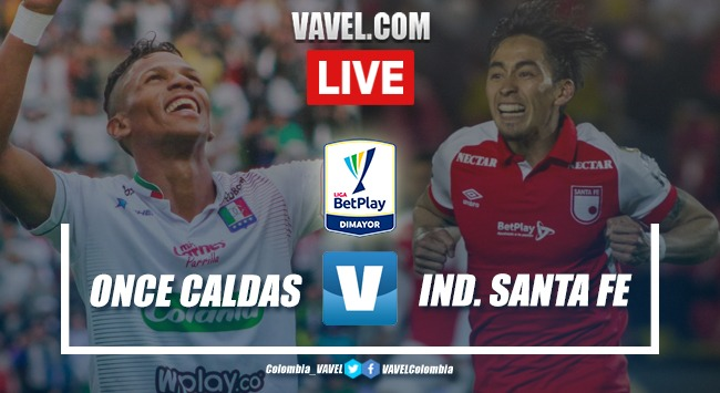 Once Caldas vs Independiente Santa Fe EN VIVO online Liga Betplay 2020-I