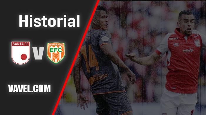 Historial Envigado F.C. vs Independiente Santa fe: ventaja del'cardenal'