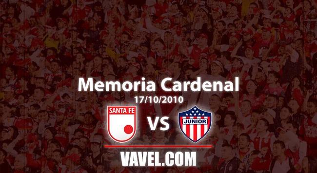 Memoria 'cardenal': Santa Fe venció a Junior y asumió el liderato de la liga