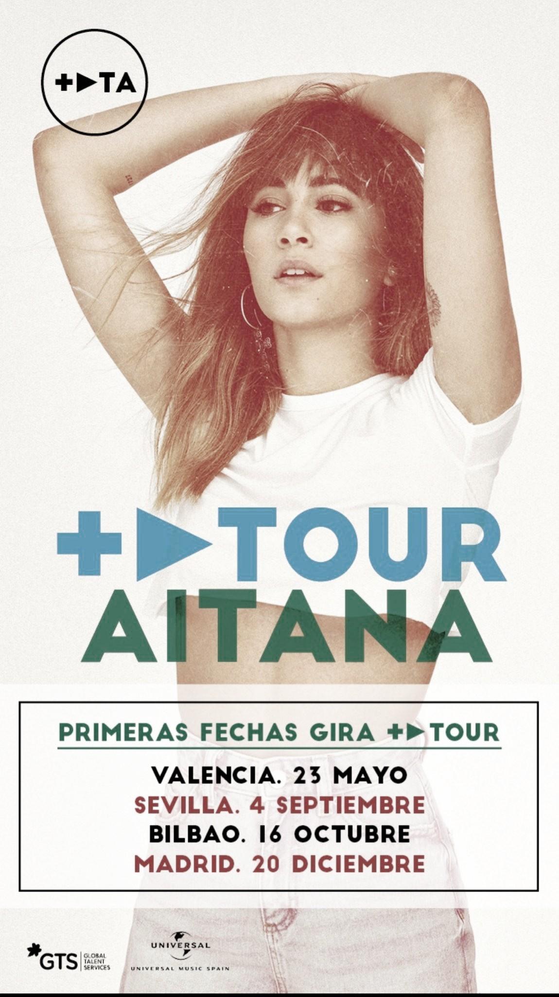 Aitana anuncia + PLAY TOUR