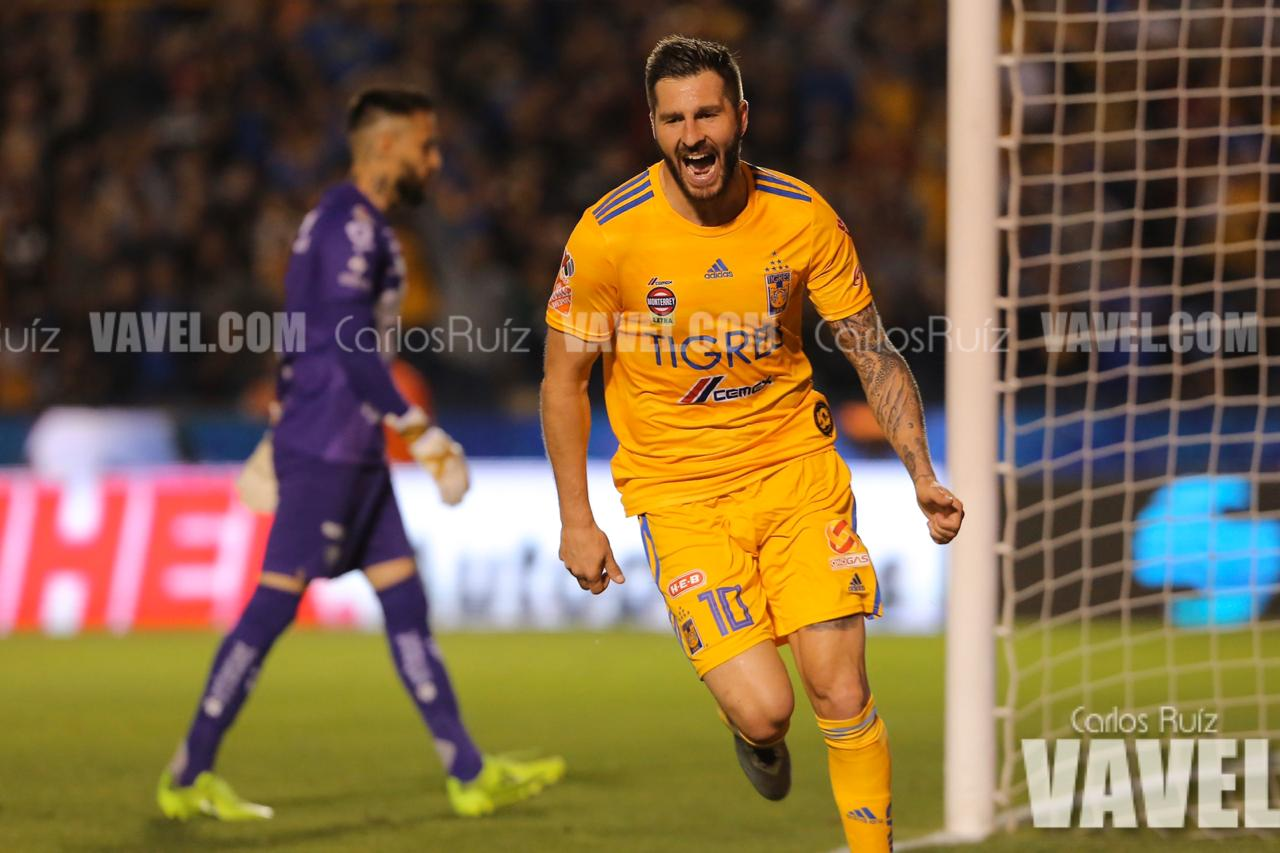 """Tigres golea a Pumas con un inspirado """"hat-trick"""" de Gignac"""