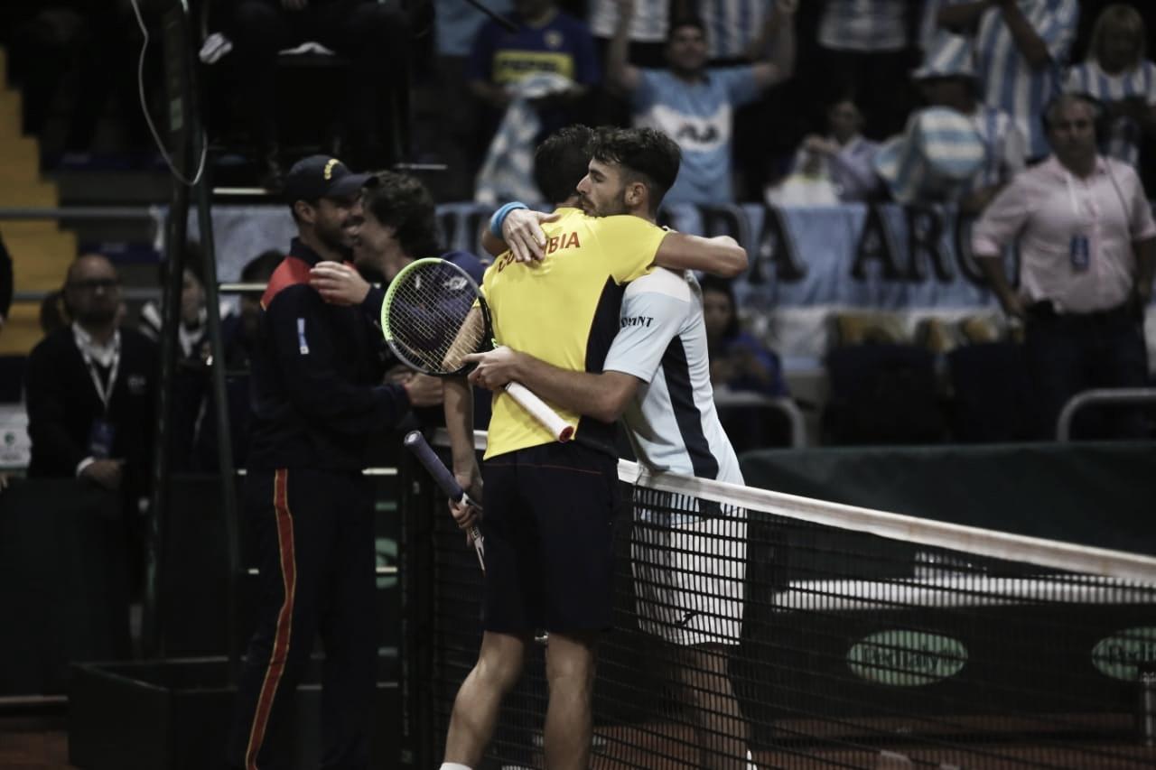 Serie igualada en la jornada del viernes en la Copa Davis