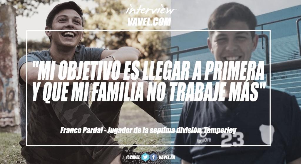 """Entrevista. Franco Pardal: """"El objetivo que tenemos todos es salir campeón yser un equipo bastante completo"""""""