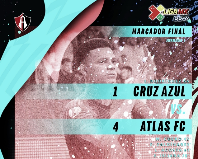 Atlas vence a Cruz Azul en el inicio de la e Liga MX