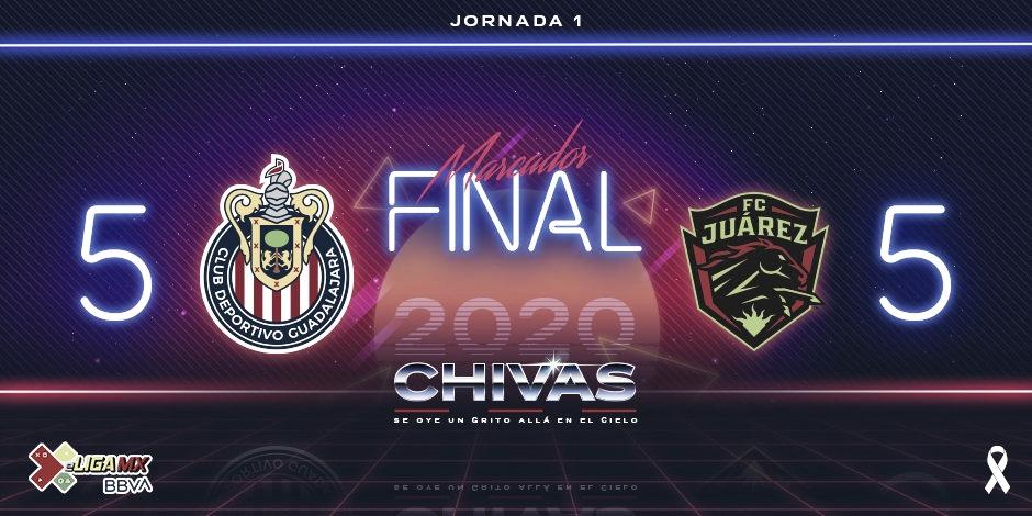 Feria de goles en la eLiga MX entre Chivas y Juárez