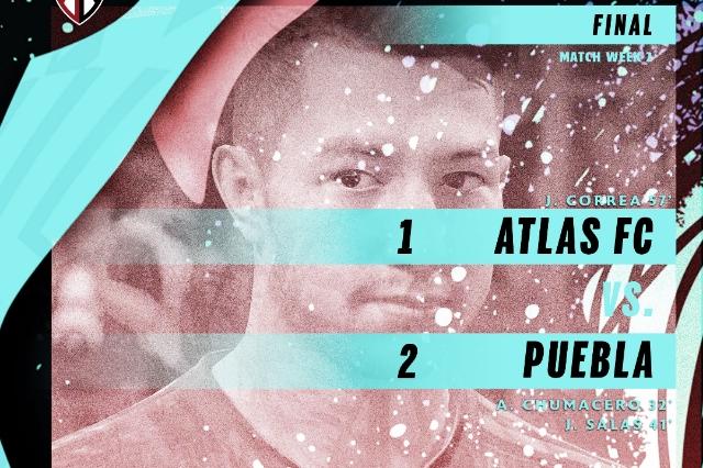 Atlas cae ante el Puebla de Ormeño en la e Liga MX