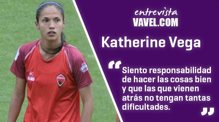 """Entrevista a Katherine Vega: """"Jugar en Colombia es lo mejor que me ha pasado futbolísticamente"""""""
