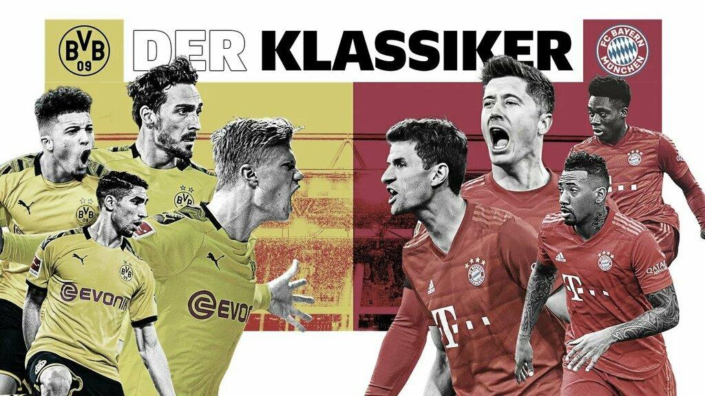 #DerKlassiker126: Bayern de Munique e Borussia Dortmund se enfrentam em duelo fundamental pelo título alemão