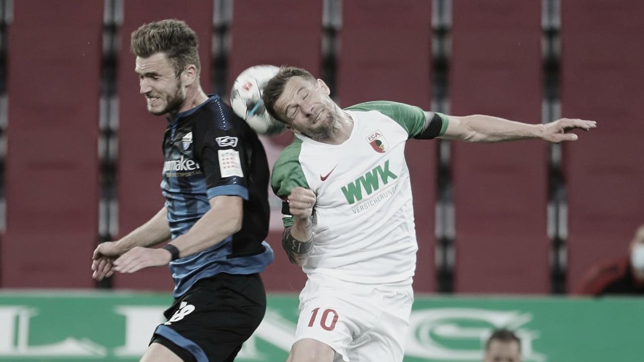 Augsburg e Paderborn alternam bons momentos e empatam na parte inferior da Bundesliga