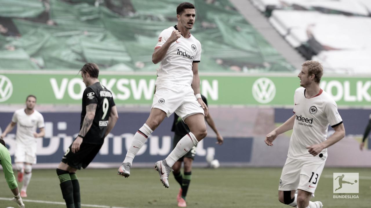 André Silva marca, Frankfurt bate Wolfsburg e vence a primeira após volta da Bundesliga