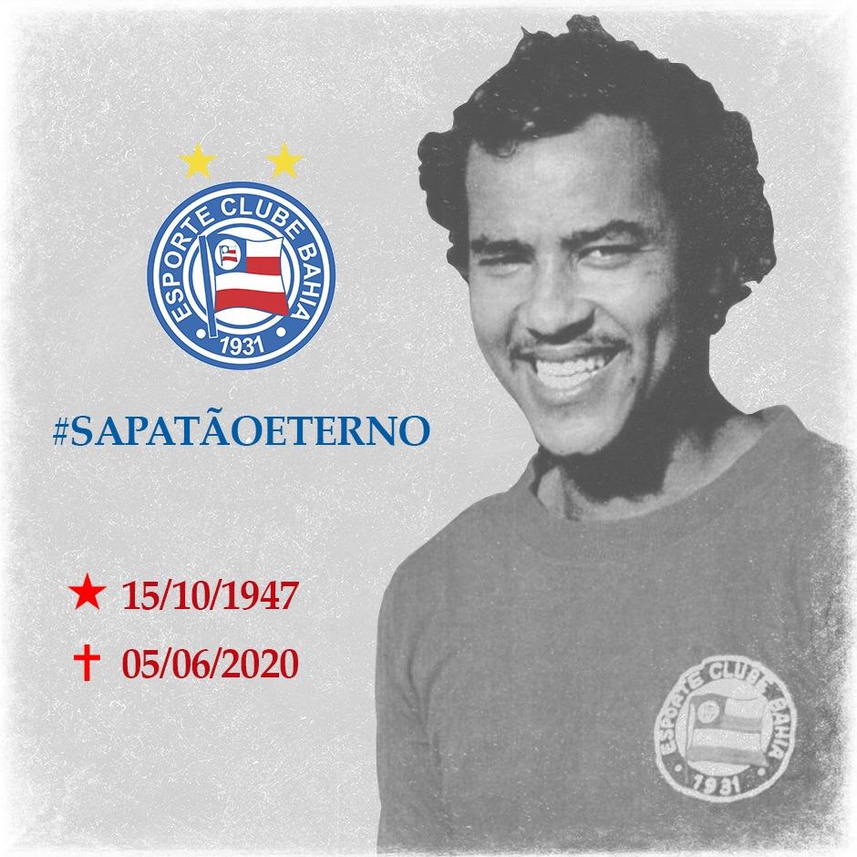 Morre ex-zagueiro do Bahia, Sapatão, aos 72 anos