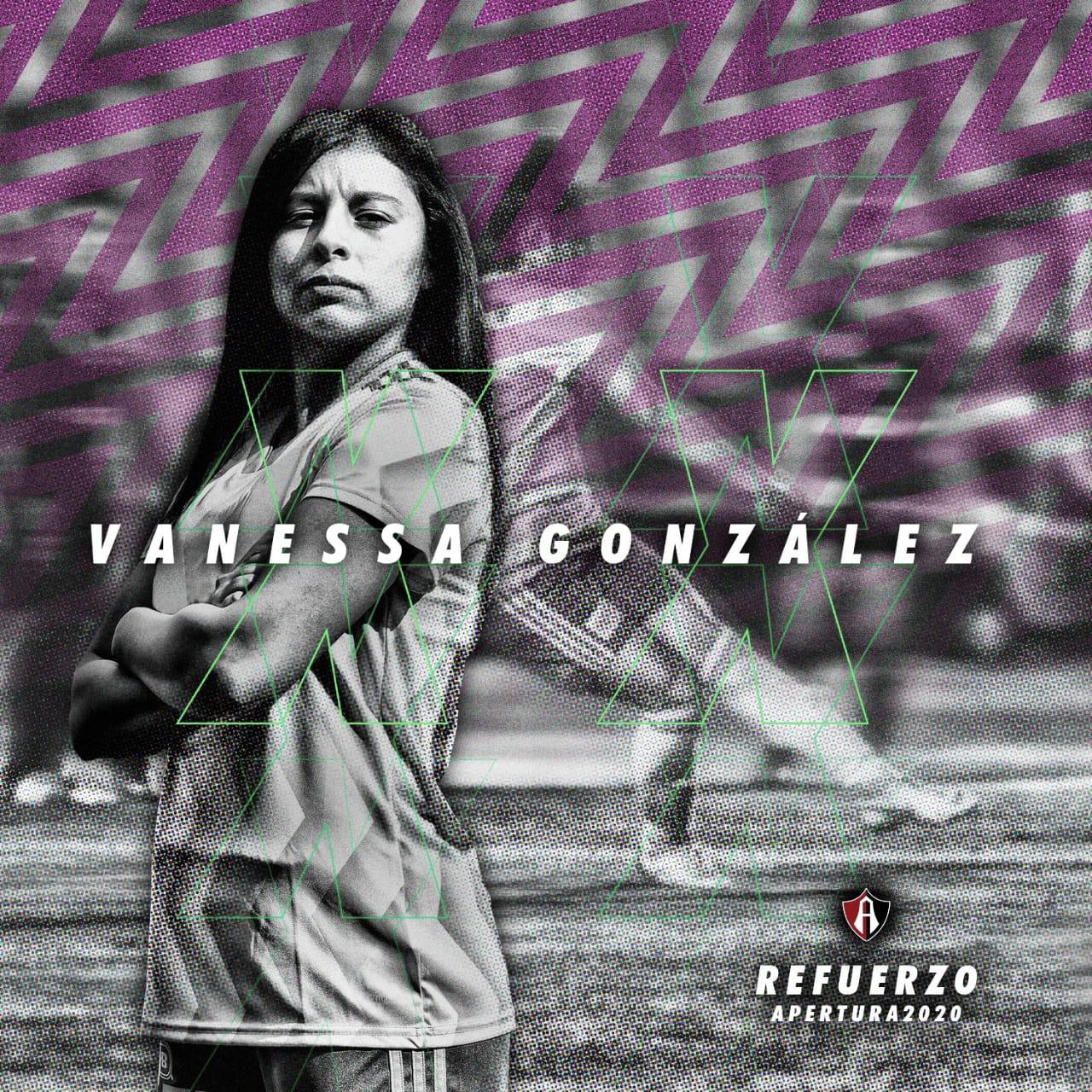 Vanessa González se incorpora a Atlas Femenil