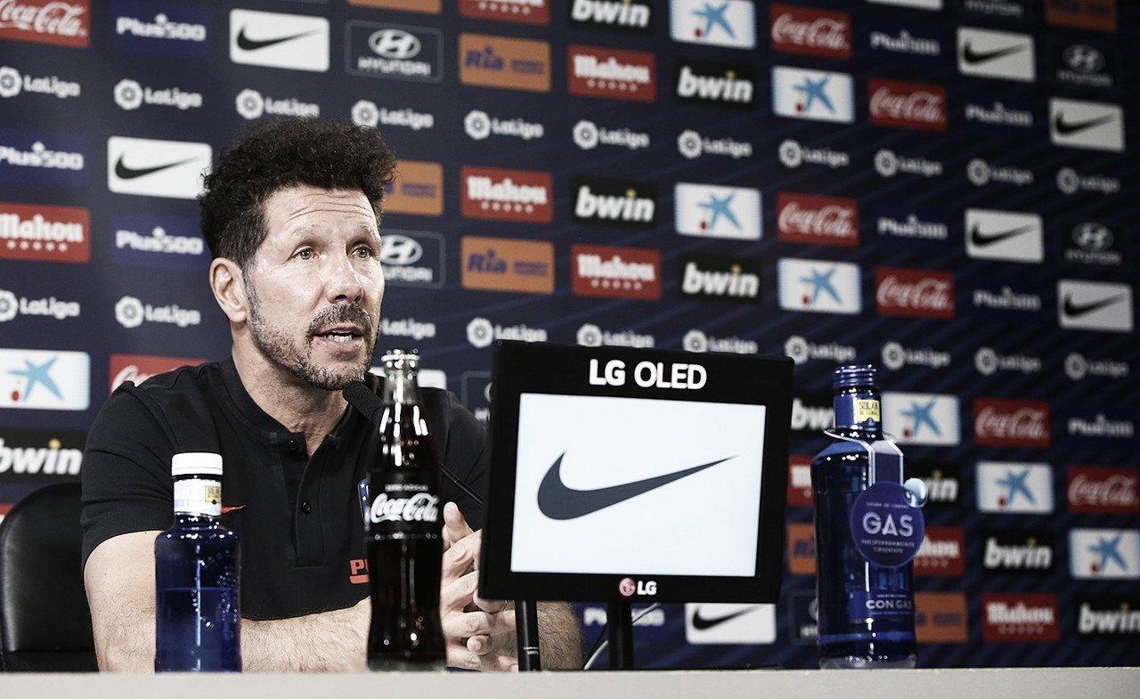 """Declaraciones de Simeone previas al duelo ante el Mallorca: """"Quedan cinco jornadas durísimas"""""""