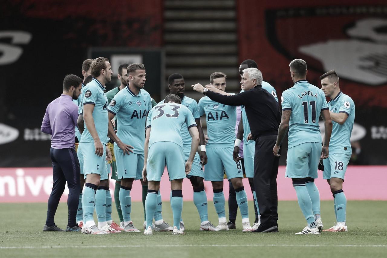 Mourinho acredita que faltou 'nitidez' no ataque do Tottenham em empate com Bournemouth