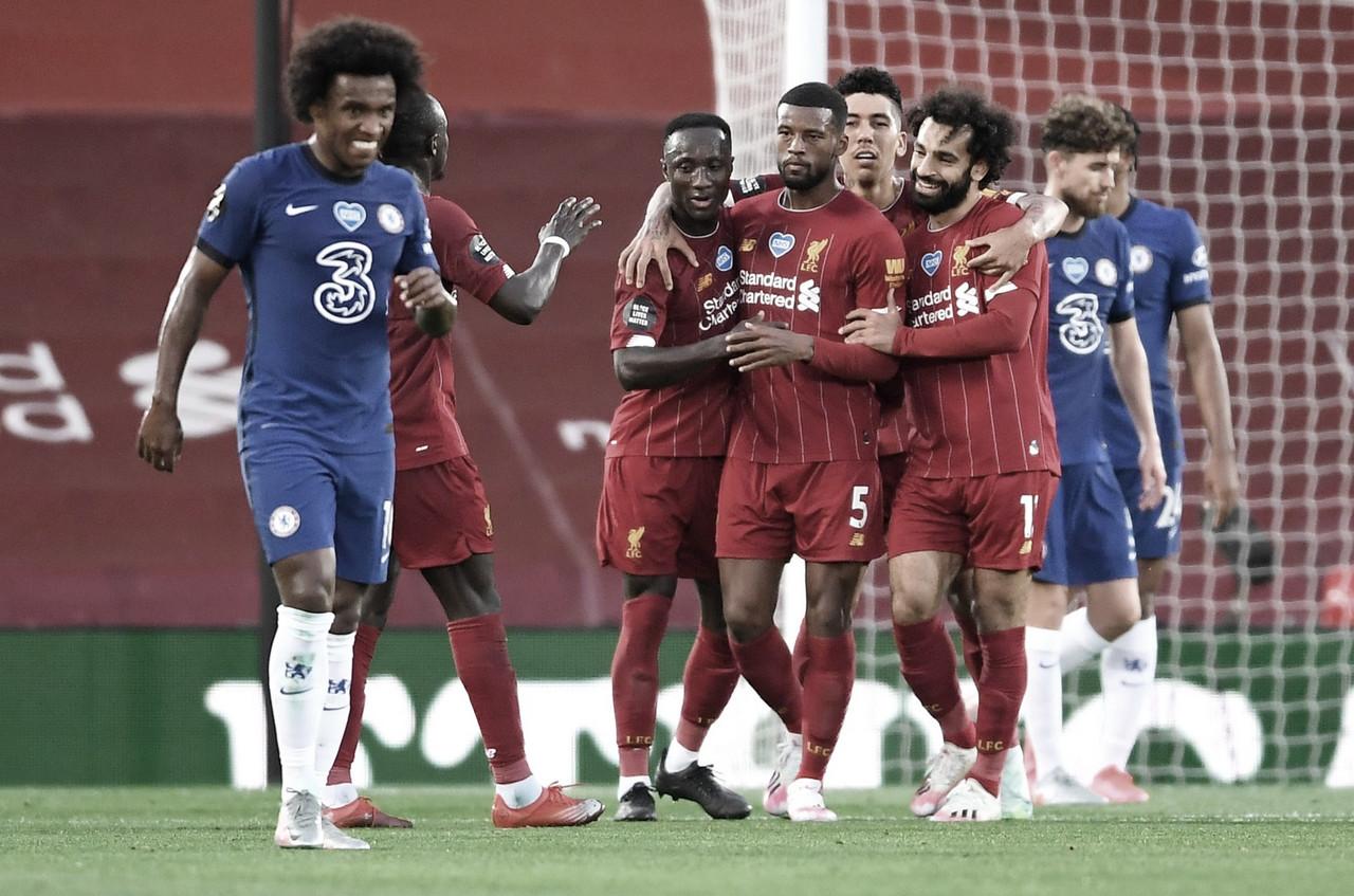 Digno de campeão: Liverpool vence Chelsea em jogo cheio de gols na Premier League