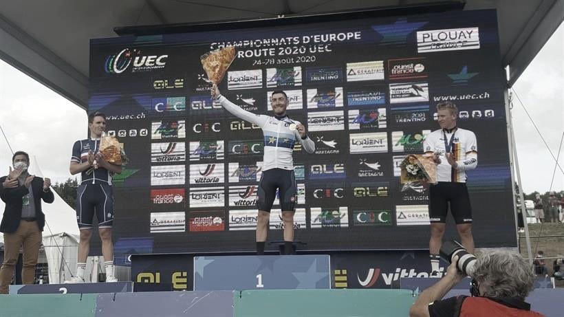 Giacomo Nizzolo campeón de Europa en Plouay