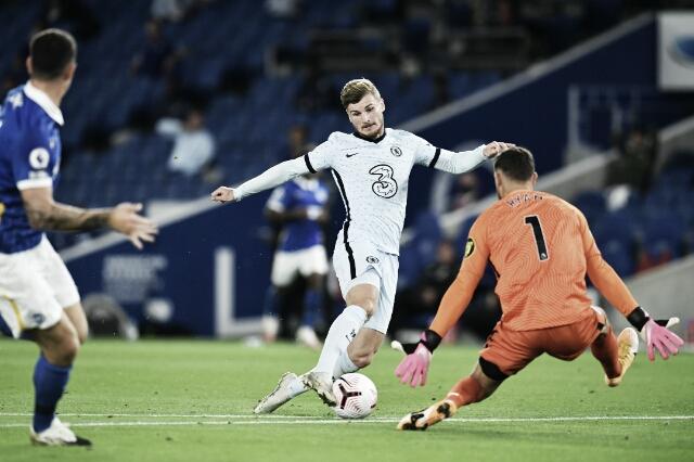 Werner brilha na estreia e Chelsea bate Brighton fora de casa