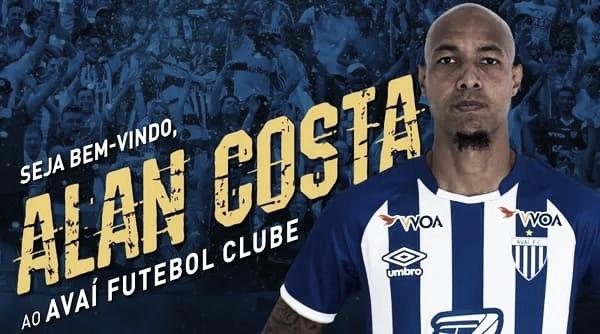 Contratação em dose dupla: Avaí anuncia zagueiro Alan Costa e volante Leandrinho