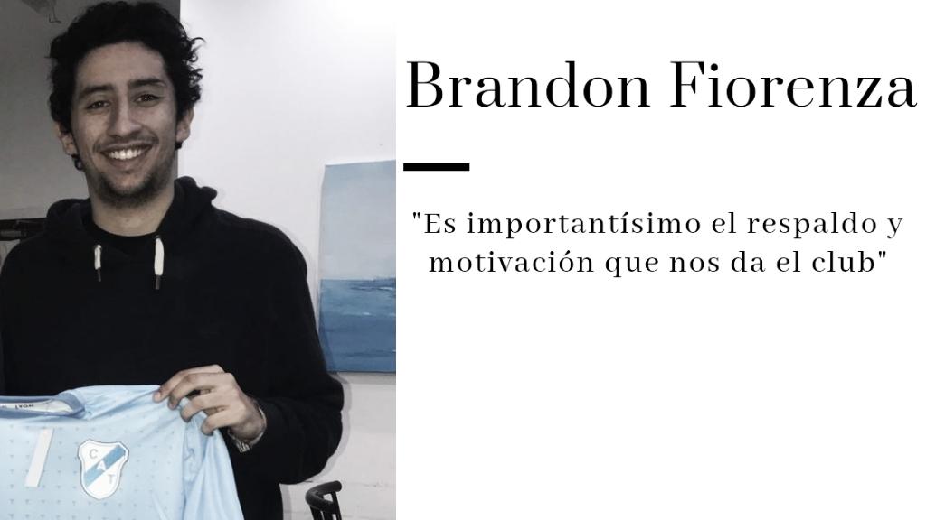 """ENTREVISTA. Brandon Fiorenza: """"Me emociona saber que hay gente interesada en representar al Club"""""""