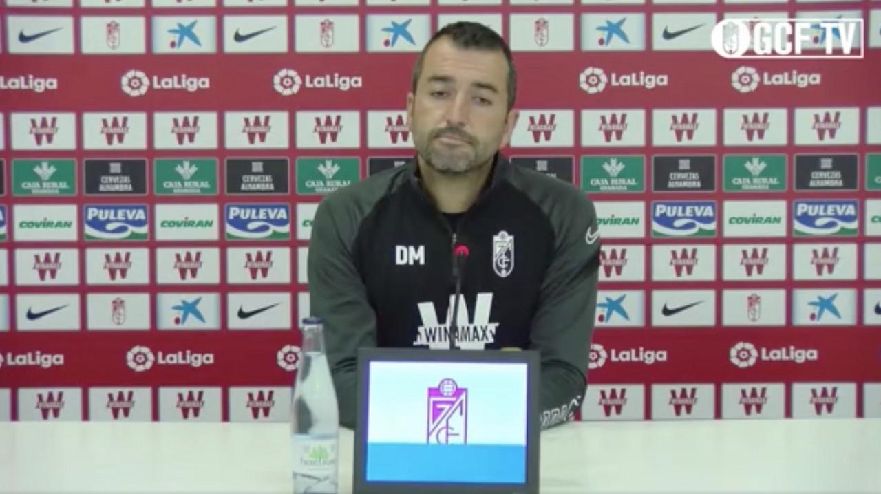 Diego Martínez en rueda de prensa telemática.