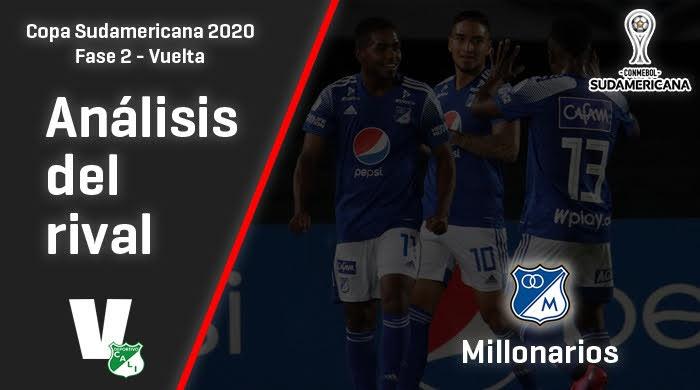 Deportivo Cali, análisis del rival: Millonarios (Fase 2 - vuelta, Sudamericana 2020)