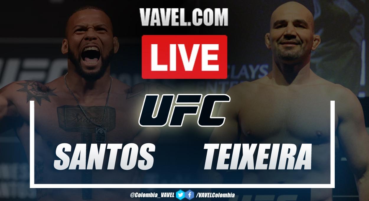 Resumen y resultado: Thiago Santos vs Glover Teixeira en UFC Vegas 13
