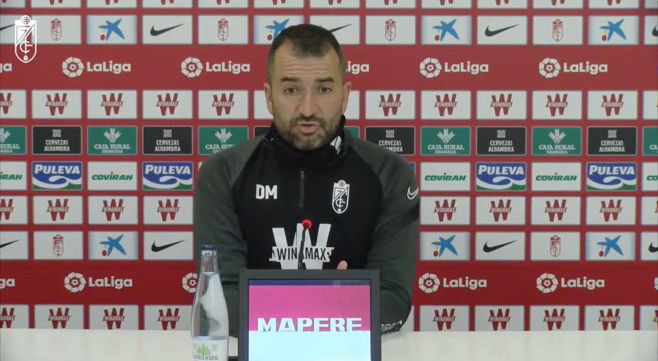 Diego Martínez, en rueda de prensa telemática.