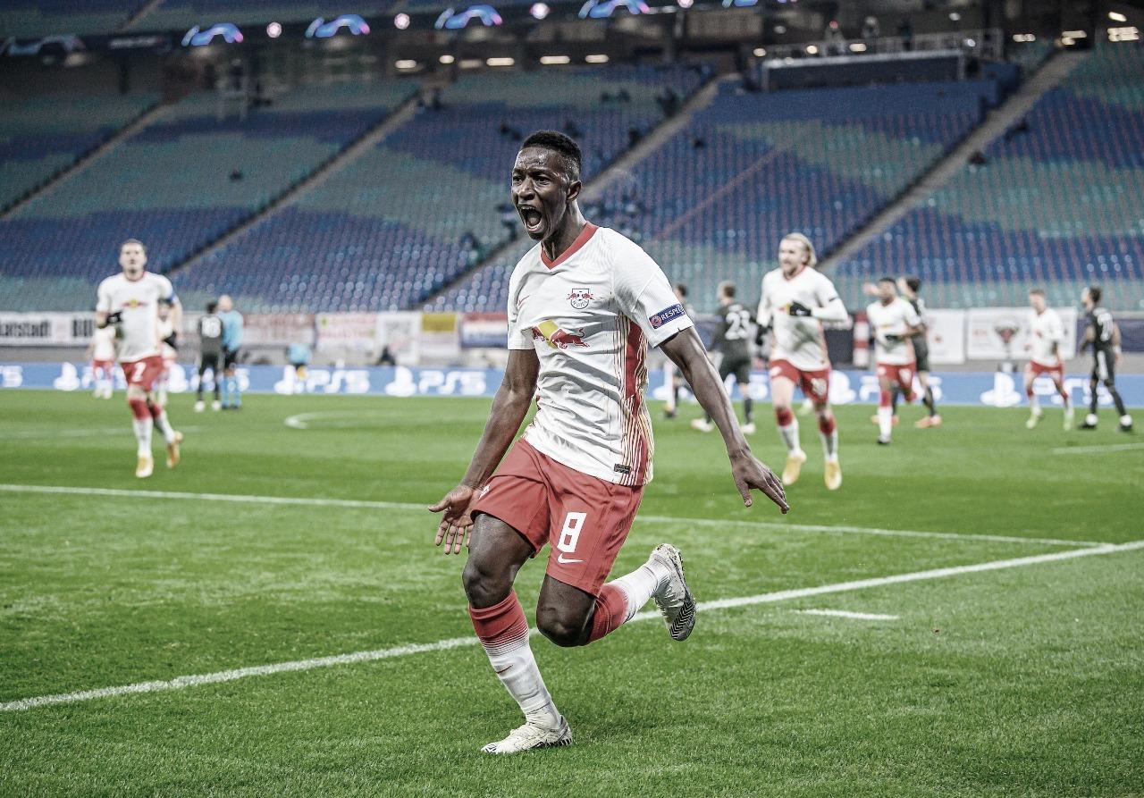 Em grande atuação no primeiro tempo, RB Leipzig se classifica e elimina Manchester United