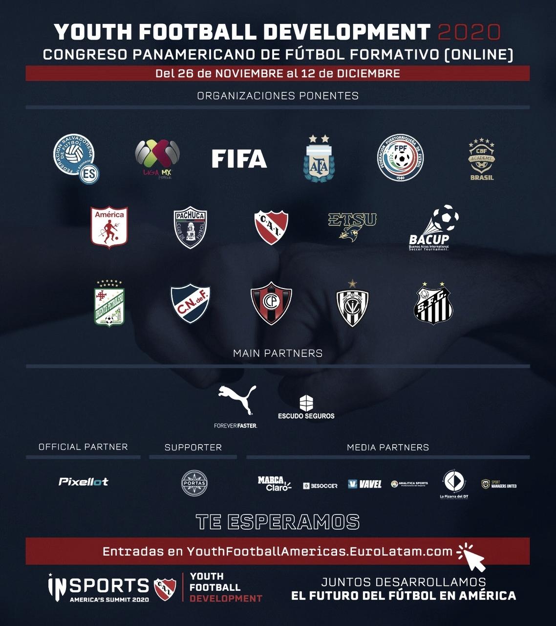 INsports EuroLatam e Independiente inauguraron el Primer Congreso de Fútbol Formativo Panamericano