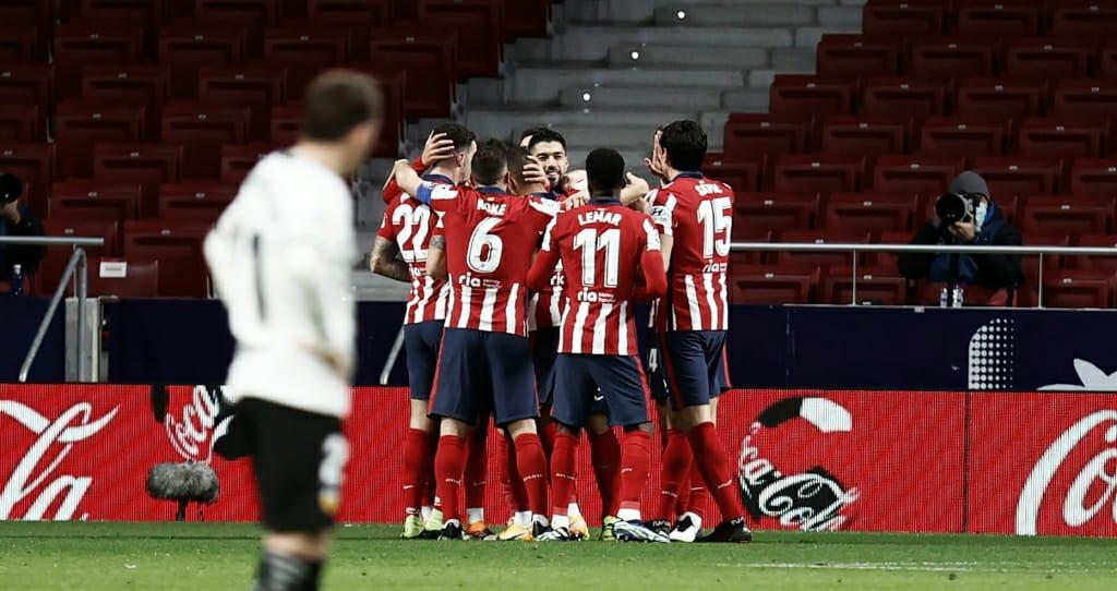 El Atlético consiguió ganar con goles de Joao, Suárez y Correa. / Twitter: Atlético de Madrid oficial