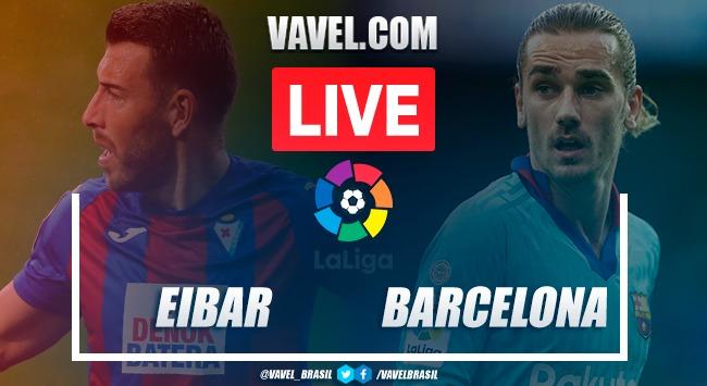 Gol e melhores momentos para Eibar x Barcelona por La Liga (0-1)