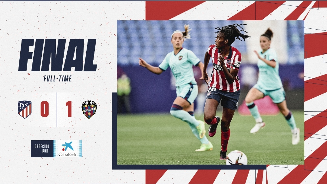 Resumen Atlético de Madrid vs Levante UD en la Copa de la Reina 2020/21 (0-1)