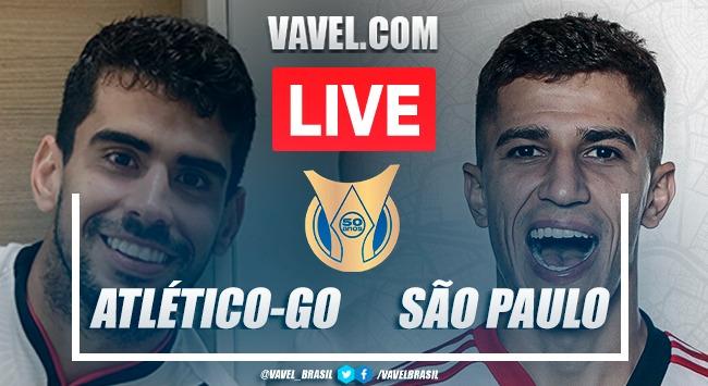 Gols e melhores momentos deAtlético-GO x São Paulopelo Campeonato Brasileiro (2-0)