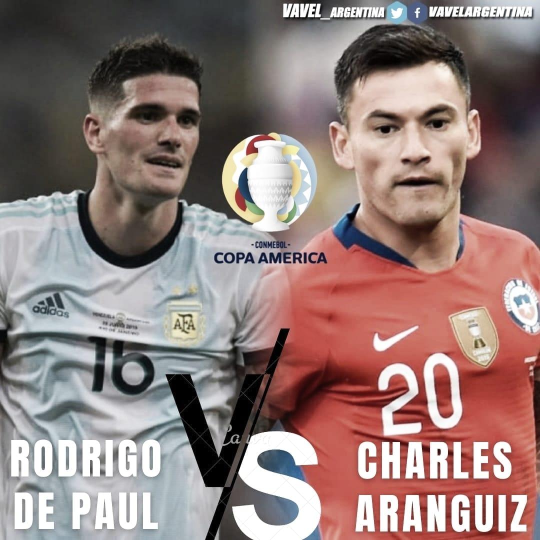 Rodrigo De Paul vs Charles Aránguiz: disputa por el medio campo