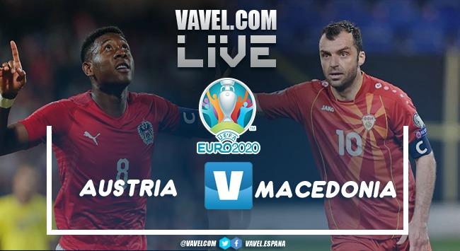 Resumen Austria vs Macedonia del Norte en la Eurocopa 2020 (3-1)