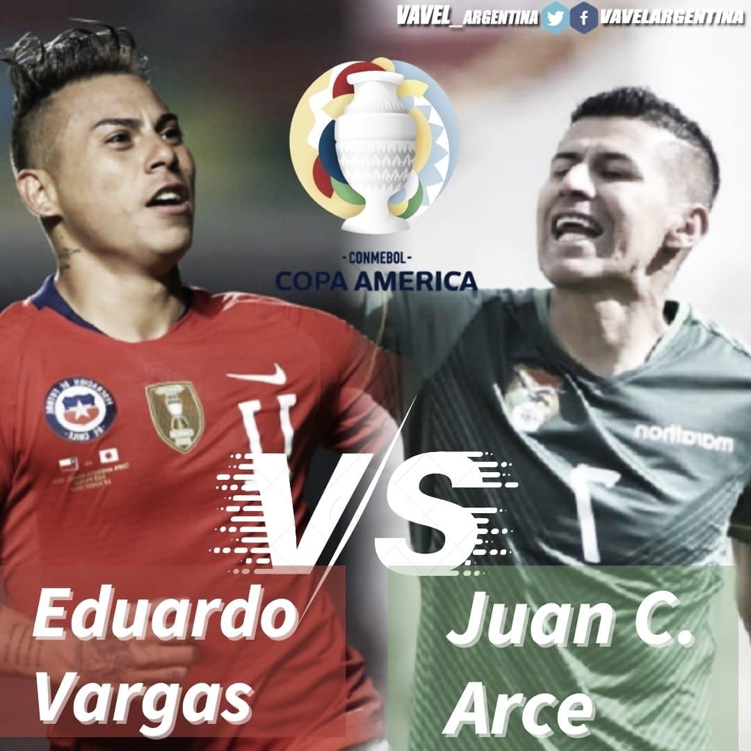 Eduardo Vargas vs Juan C. Arce: Sed goleadora.