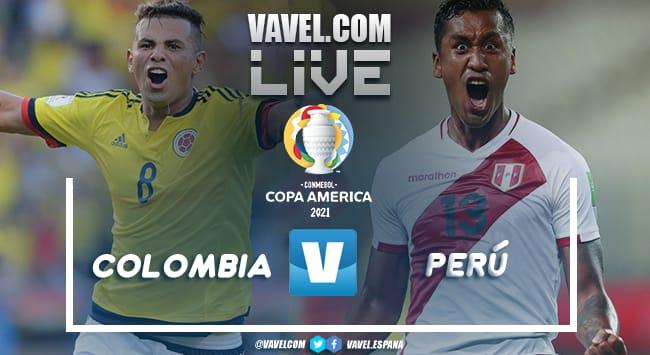 Resumen Colombia vs Perú por la Copa América (1-2)