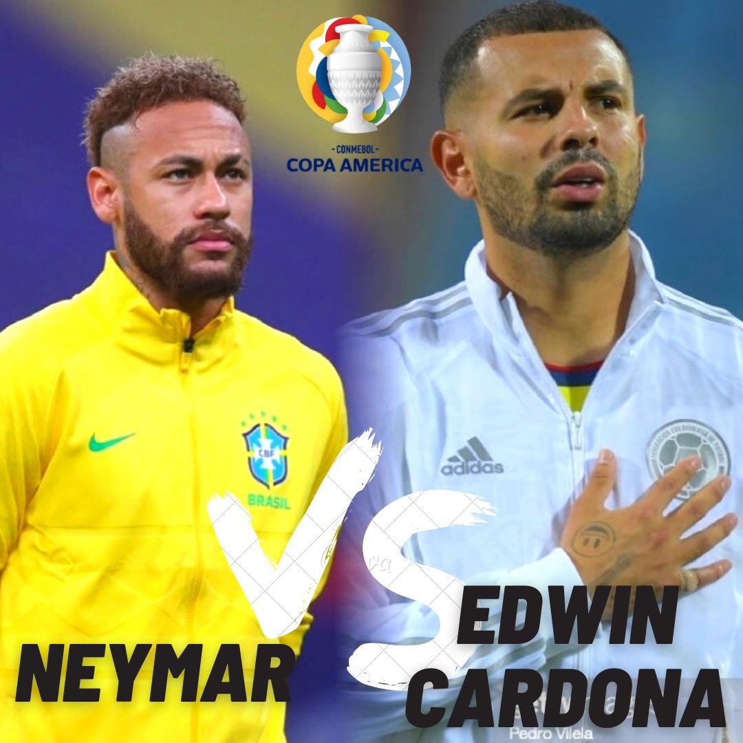 Cara a cara: Neymar Jr vs Edwin Cardona