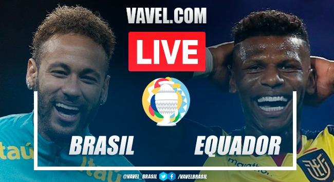 Gols e melhores momentos de Brasil 1 x 1 Equador pela Copa América