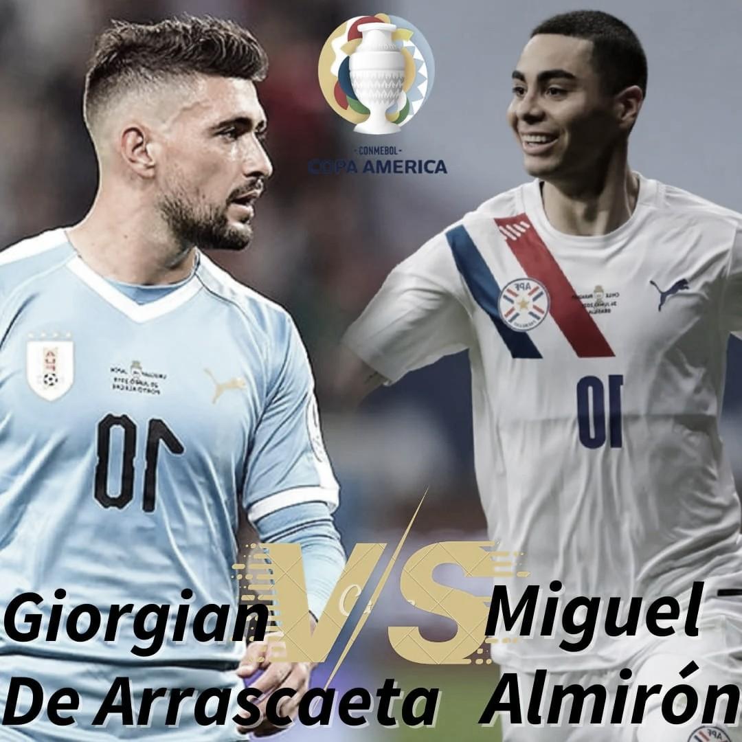 Giorgian De Arrascaeta vs Miguel Almirón: El arte de hacer jugar.