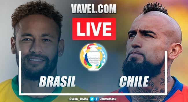 Gol e melhores momentos para Brasil 1x0 Chile pela Copa América